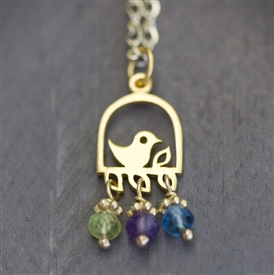 The Best Nest Birthstone Necklace
