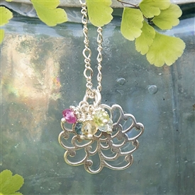 My Mothers Garden Charm Necklace