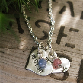 Itty Bitty Sweet Heart Stamped Necklace in Sterling Silver - by {Jules} jewelry