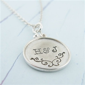 Personalized Swirl Hand-Stamped Necklace by {Jules} Jewelry