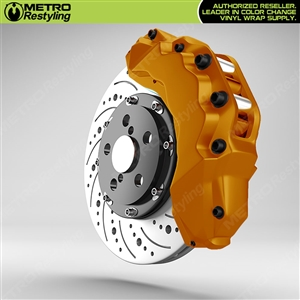 Dark Yellow Brake Caliper Wrap