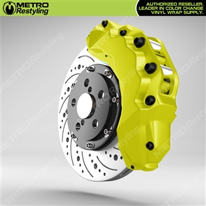 Yellow Brake Caliper Wrap