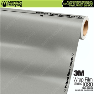 3M 1080 BR120 Brushed Aluminum Vinyl Flex Wrap