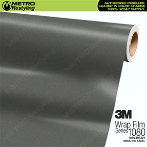 3M Scotchprint 1080 BR201 Brushed Steel Vinyl Flex Wrap