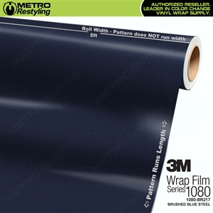 3M Scotchprint 1080 BR217 Brushed Steel Blue Vinyl Vehicle Wrap