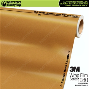 3M Scotchprint 1080 BR241 Brushed Gold Vinyl Car Wrapping Film