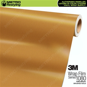 3M Scotchprint 1080 BR241 Brushed Gold Vinyl Flex Wrap