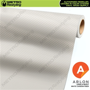 "Arlon Ultimate PremiumPlusâ""¢ Vinyl Wrap Film White Carbon Fiber 502CF"