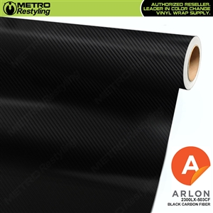 Arlon Ultimate PremiumPlus Vinyl Wrap Film Black Carbon Fiber 503CF