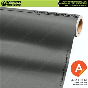 "Arlon Ultimate PremiumPlusâ""¢ Vinyl Wrap Film Brushed Silver 507BR"