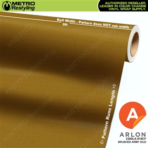"Arlon Ultimate PremiumPlusâ""¢ Vinyl Wrap Film Brushed Army Gold 604BR"