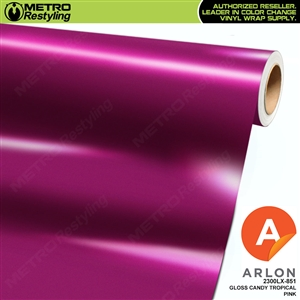 "Arlon Ultimate PremiumPlusâ""¢ Vinyl Wrap Film Gloss Candy Tropical Pink 851"