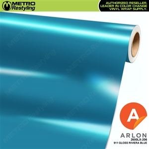 "Arlon Ultimate PremiumPlusâ""¢ Vinyl Wrap Film Gloss 911 Riviera Blue 206"