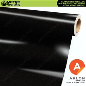 "Arlon Ultimate PremiumPlusâ""¢ Vinyl Wrap Film Gloss Black Metallic 226"