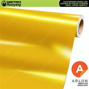 "Arlon Ultimate PremiumPlusâ""¢ Vinyl Wrap Film Gloss Lemon Drop Yellow 233"