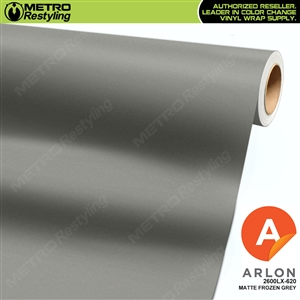 "Arlon Ultimate PremiumPlusâ""¢ Vinyl Wrap Film Matte Frozen Grey 620"