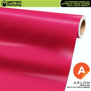 "Arlon Ultimate PremiumPlusâ""¢ Vinyl Wrap Film Matte Hot Pink Aluminum 646"