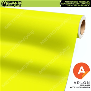 "Arlon Ultimate PremiumPlusâ""¢ Vinyl Wrap Film Matte Hi-Liter Yellow 825"