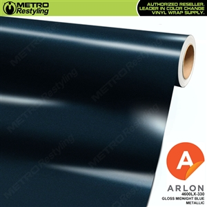 Arlon PerformancePlus Vinyl Wrap Film Gloss Midnight Blue Metallic 330