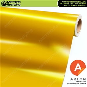 Arlon PerformancePlus Vinyl Wrap Film Gloss Bright Yellow 367