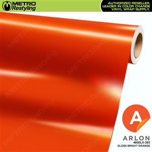 Arlon PerformancePlus Vinyl Wrap Film Gloss Bright Orange 383