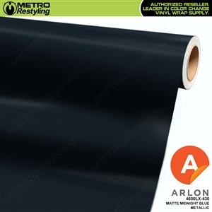 Arlon PerformancePlus Vinyl Wrap Film Matte Midnight Blue Metallic 430