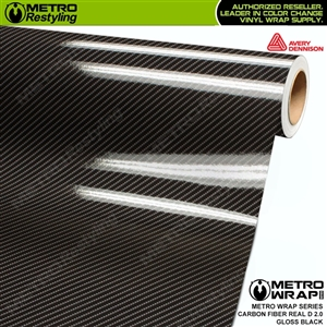 Avery Dennison Printed High Gloss Real D Black Carbon Fiber 2.0 Vinyl Wrap