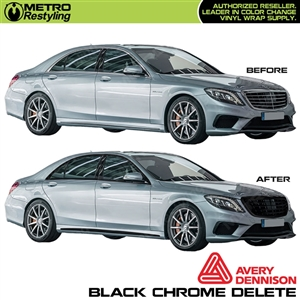 Avery Black Chrome Delete 3in x 75ft