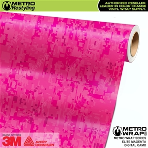 Digital Elite Magenta Camouflage Vinyl Wrap Film