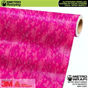 Mini Elite Edition Magenta Camouflage Vinyl Wrap Film