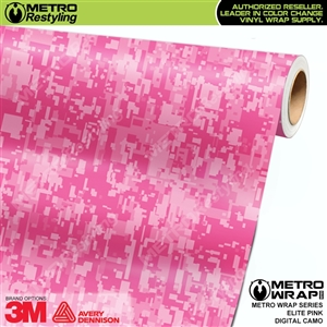 Digital Elite Pink Camouflage Vinyl Wrap Film