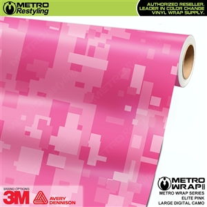 Large Digital Elite Pink Camouflage Vinyl Wrap Film