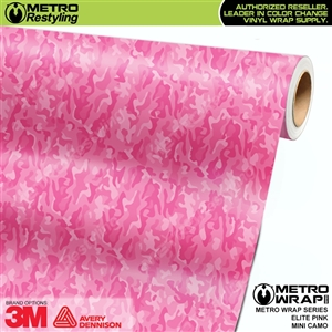 Mini Elite Edition Pink Camouflage Vinyl Wrap Film