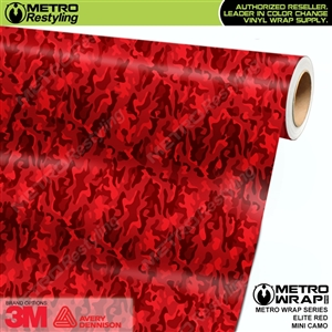 Mini Elite Edition Red Camouflage Vinyl Wrap Film