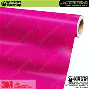 Digital Elite Shadow Magenta Camouflage Vinyl Wrap Film