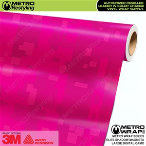 Large Digital Elite Shadow Magenta Camouflage Vinyl Wrap Film