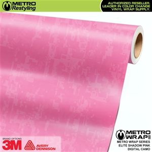 Digital Elite Shadow Pink Camouflage Vinyl Wrap Film