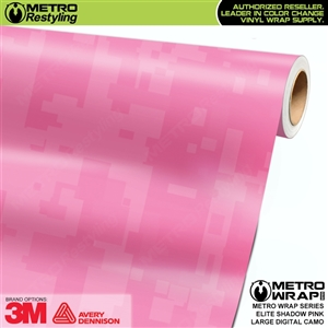 Large Digital Elite Shadow Pink Camouflage Vinyl Wrap Film