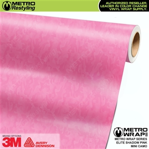 Mini Elite Shadow Edition Pink Camouflage Vinyl Wrap Film