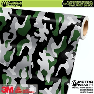 Large Green Tiger Camouflage Vinyl Wrap Film