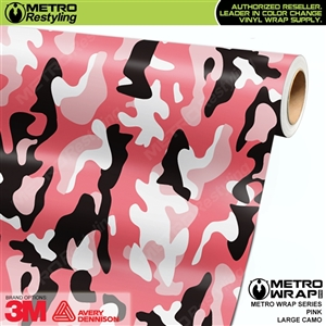 Large Pink Camouflage Vinyl Wrap Film