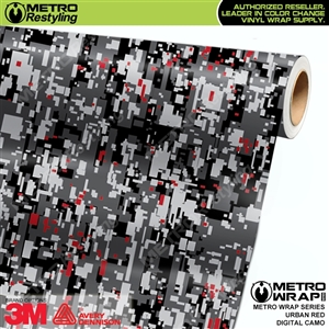 Digital Urban Red Camouflage Vinyl Wrap Film