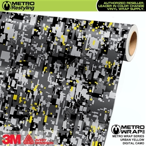 Digital Urban Yellow Camouflage Vinyl Wrap Film