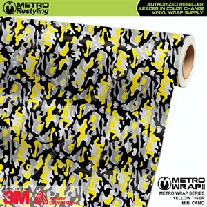 MIni Yellow Tiger Camouflage Vinyl Wrap Film