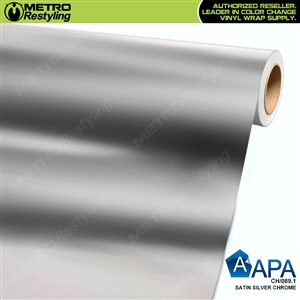 APA Vehicle Wrap Film | Satin Silver Chrome | CH/089.1