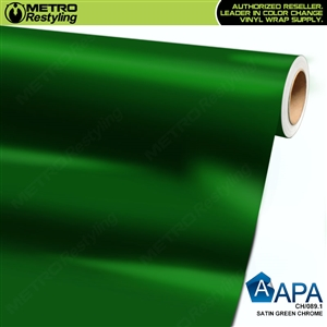 APA Vehicle Wrap Film | Satin Green Chrome | CH/089.4