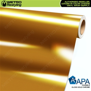APA Vehicle Wrap Film | Gloss Gold Chrome | CH/S99.2