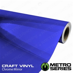 Metro Blue Chrome Mirror Vinyl