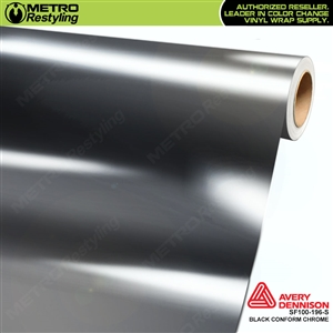 Avery Dennison Black Conform Chrome Accent Film