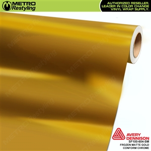 Avery Dennison Frozen Matte Gold Conform Chrome Accent Film